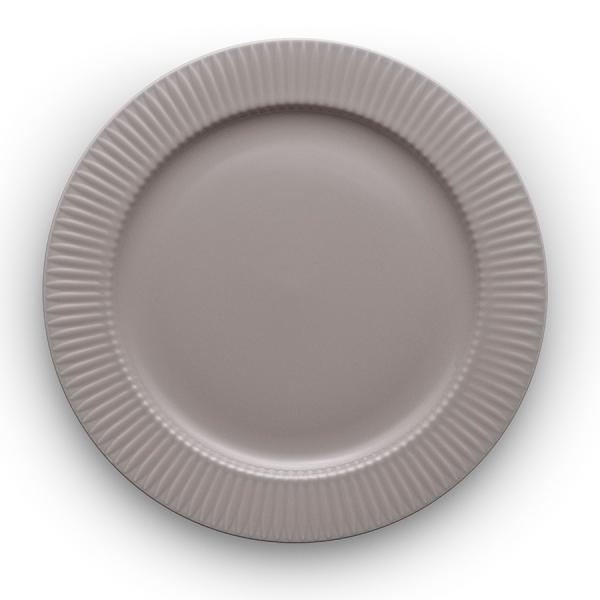 Тарелка круглая legio nova d28 см серая