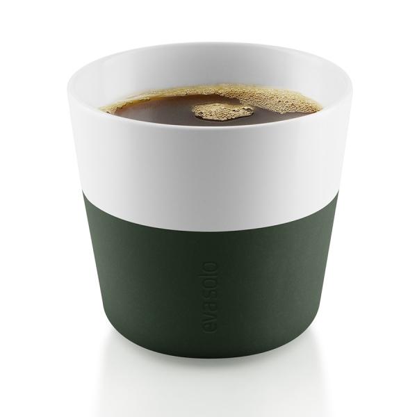 Чашки для лунго 2 шт. тёмно-зелёные
