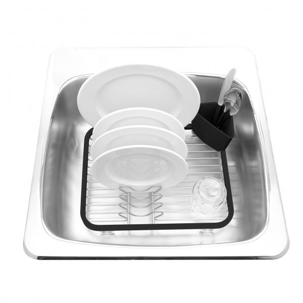 Сушилка для посуды Umbra Sinkin dish серая/никель