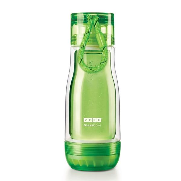 Бутылка zoku 325 мл зеленая