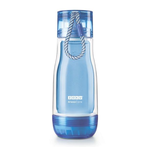 Бутылка zoku 325 мл синяя