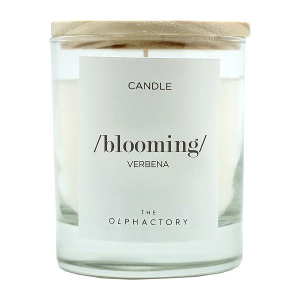 Свеча ароматическая blooming - вербена, 40 ч