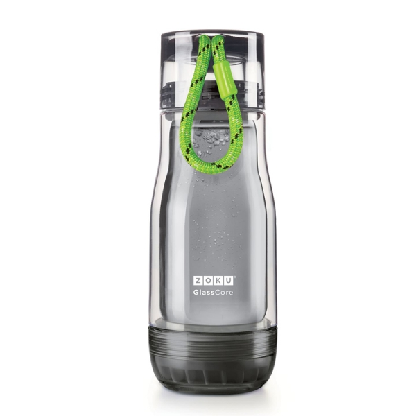 Бутылка zoku active 325 мл зеленая