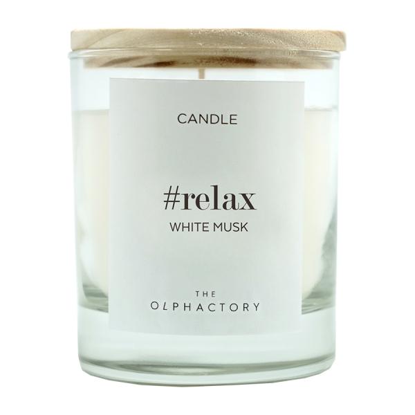 Свеча ароматическая relax - белый мускус, 40 ч
