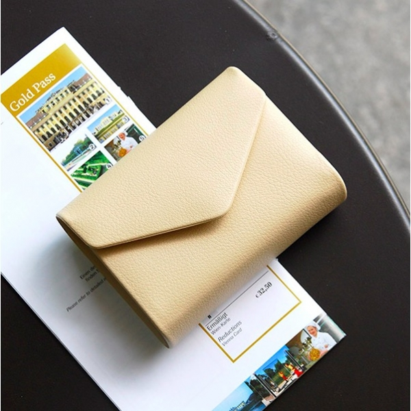 Держатель для карточек Plepic Select Card Wallet кремовый