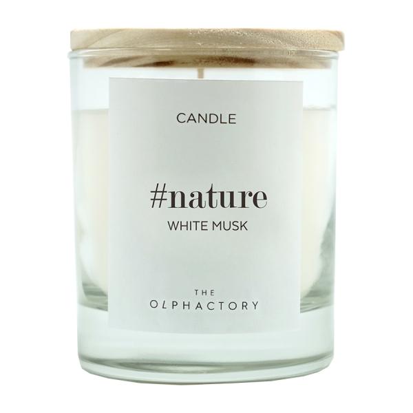 Свеча ароматическая nature - белый мускус, 40 ч