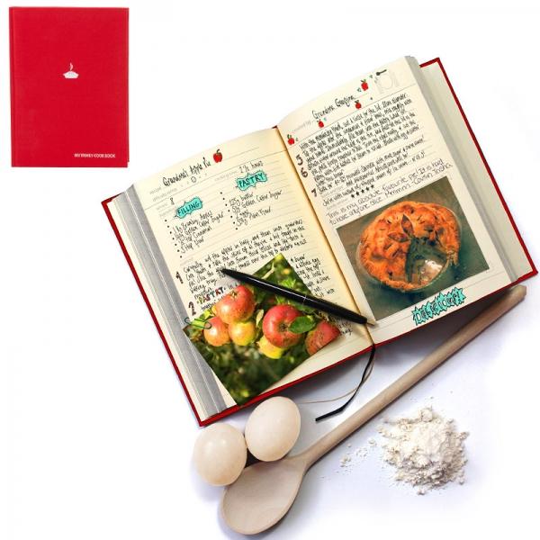 Семейная кулинарная книга my family красная
