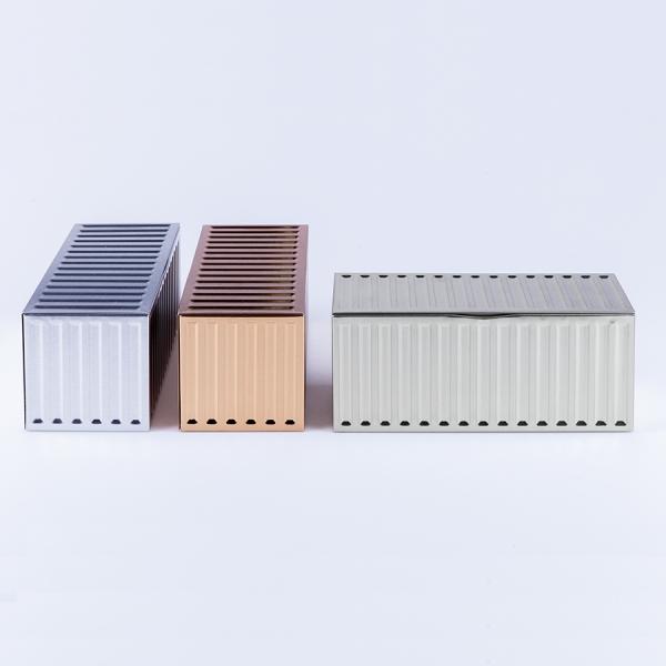 Набор из 3-х металлических контейнеров container boxes