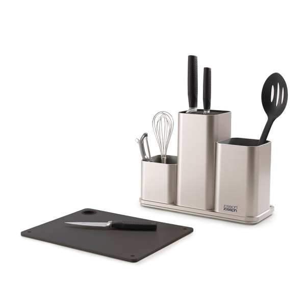 Органайзер для кухонной утвари настольный CounterStore серебристый Joseph Joseph