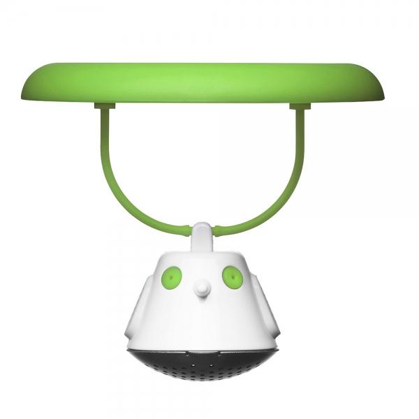 Емкость для заваривания чая с крышкой birdie swing зелёная