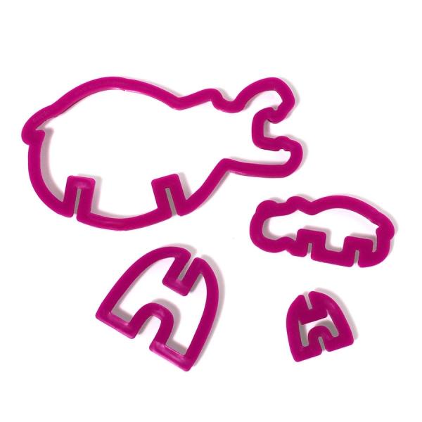 Формы для печенья 3d safari гиппопотам