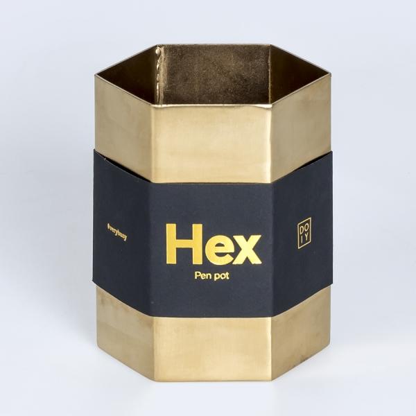 Подставка для ручек hex