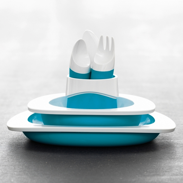 Набор столовый детский голубой