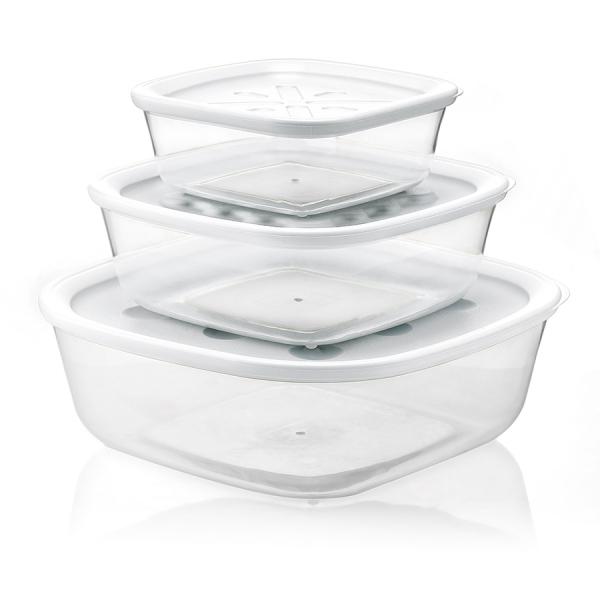 Набор из 3-х контейнеров forme casa белый