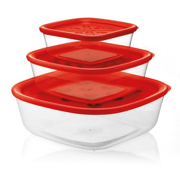 Набор из 3-х контейнеров forme casa красный
