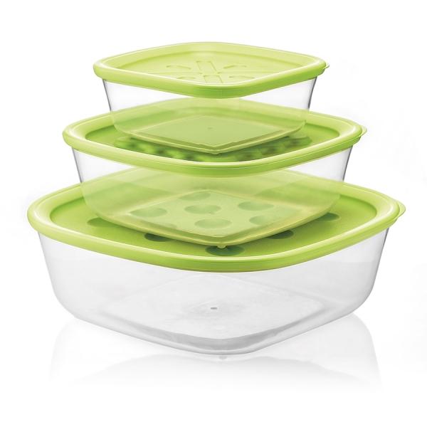 Набор из 3-х контейнеров forme casa зеленый