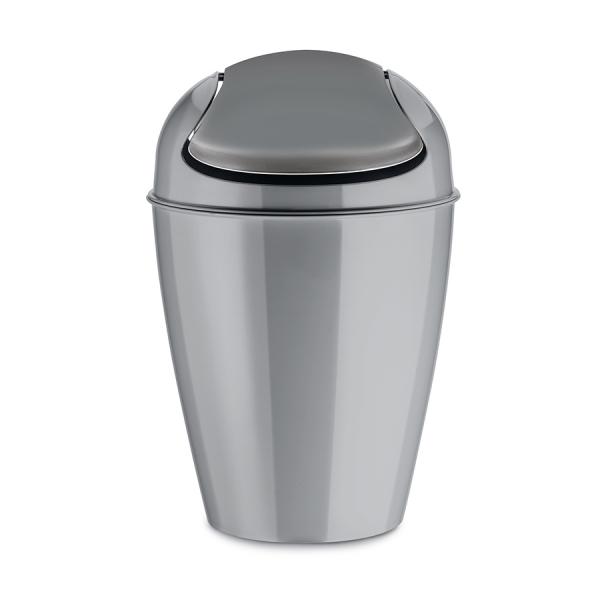 Корзина для мусора с крышкой del s, 5 л, серая