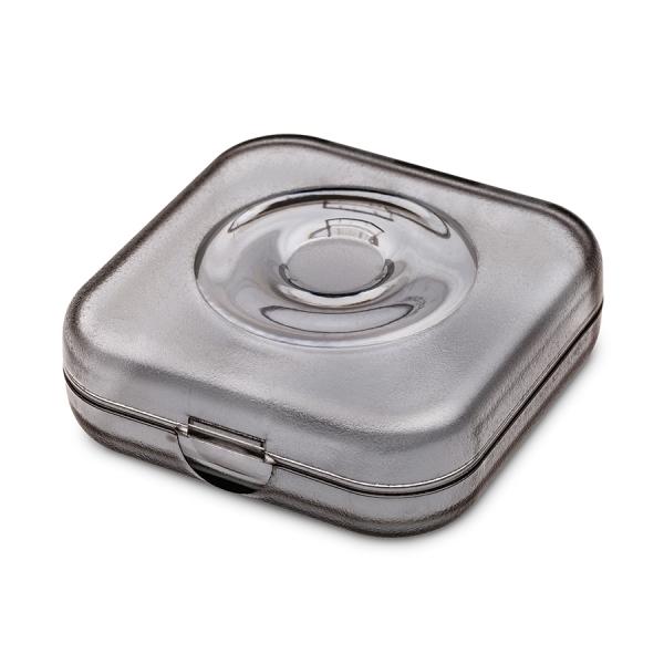Шкатулка private box, прозрачная серая