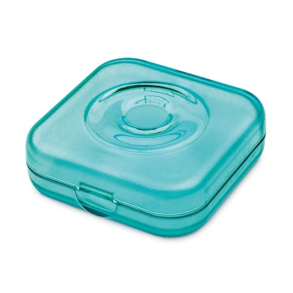 Шкатулка private box, прозрачная голубая