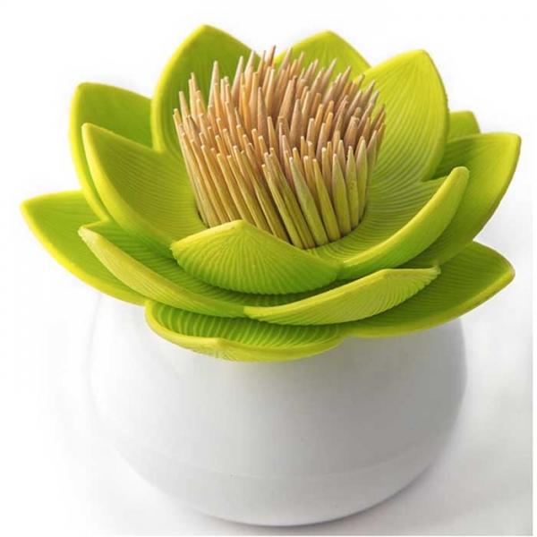 Держатель для зубочисток Lotus белый/зеленый