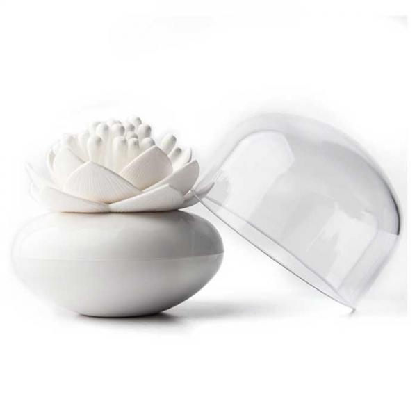 Контейнер для хранения ватных палочек Lotus белый