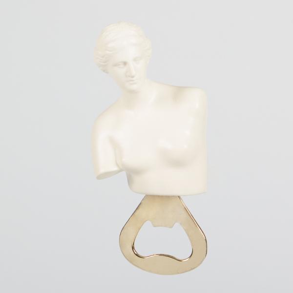 Открыватель для бутылок металлический hestia белый
