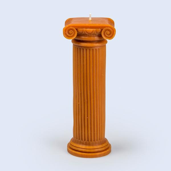 Подсвечник керамический hestia column 25.5 см, оранжевый