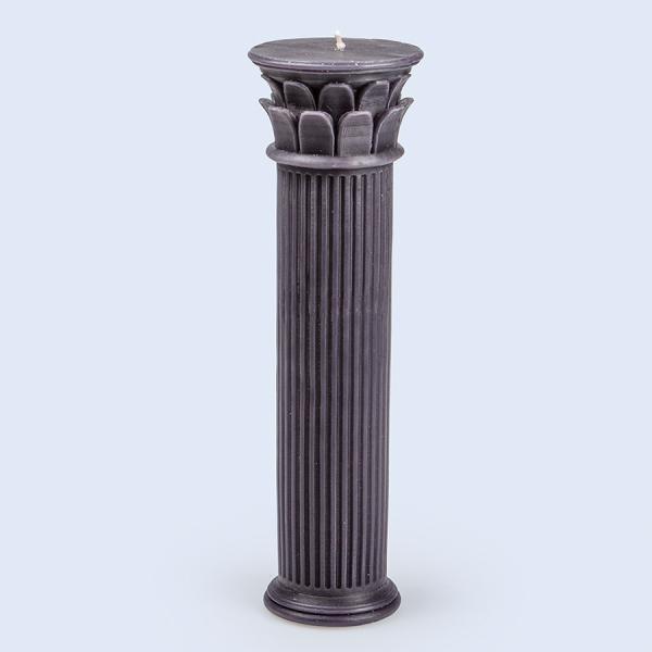 Подсвечник керамический hestia column 30.5 см, синий