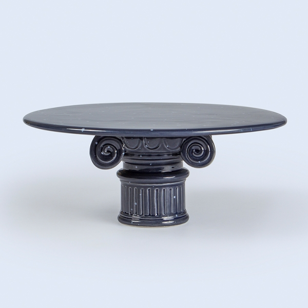 Подставка-столик керамическая hestia column синяя