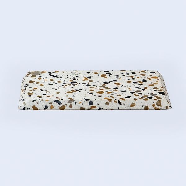 Доска для сыра terrazzo 38 см, белая