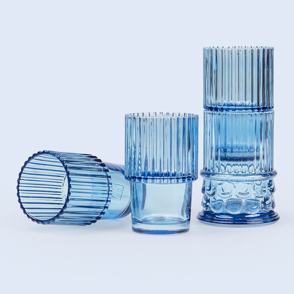 Набор стеклянных бокалов hestia голубой, 4 шт