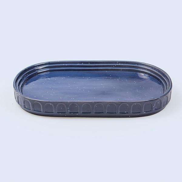 Блюдо сервировочное керамическое hestia синее
