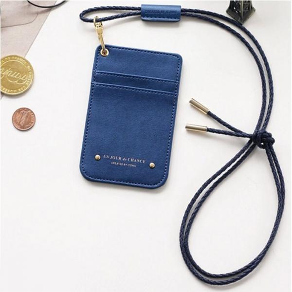 Чехол для пропуска с ремешком Swing Neck Pocket - синий