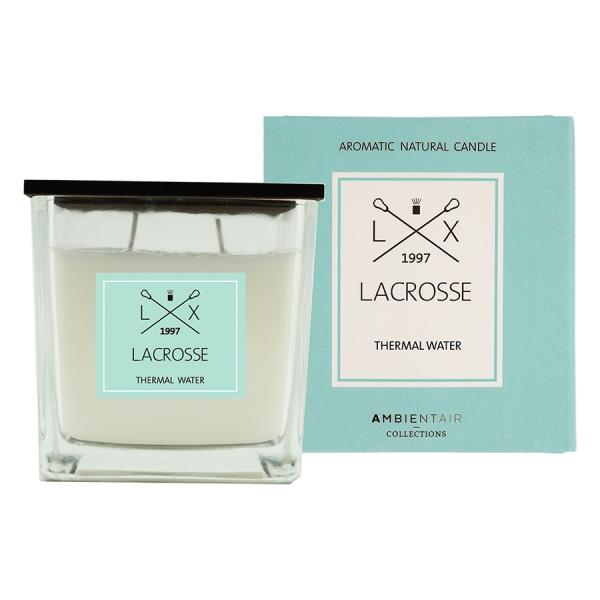 Ароматическая свеча в стекле «термальный источник» lacrosse 10х10 см