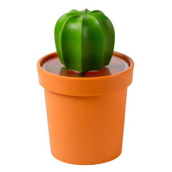 Емкость для хранения cacnister с ложкой, оранжевая с зеленым