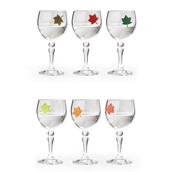 Набор маркеров для бокалов leaf my glass, 6 шт.