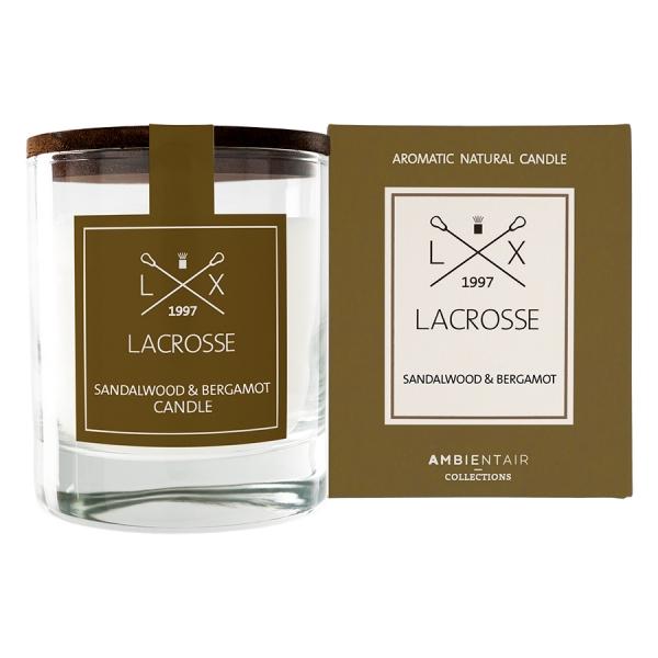 Ароматическая свеча в стекле «сандал и бергамот» lacrosse круглая