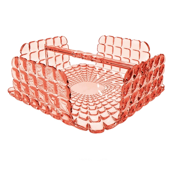 Салфетница квадратная tiffany коралловая