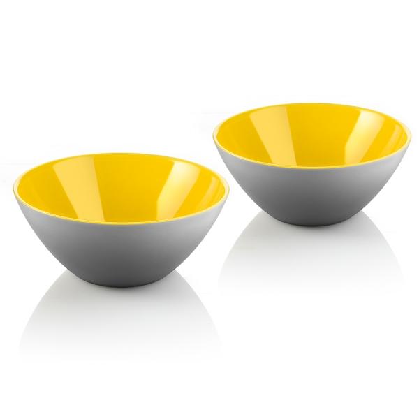 Набор из 2 мисок my fusion 12 см серо-жёлтый