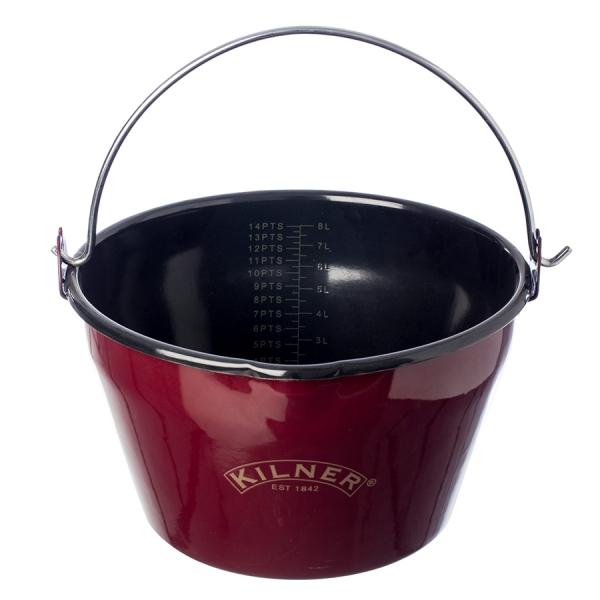 Кастрюля для приготовления варенья эмалированная 8 л
