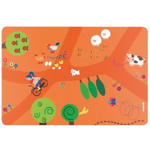 Коврик сервировочный детский on the road оранжевый