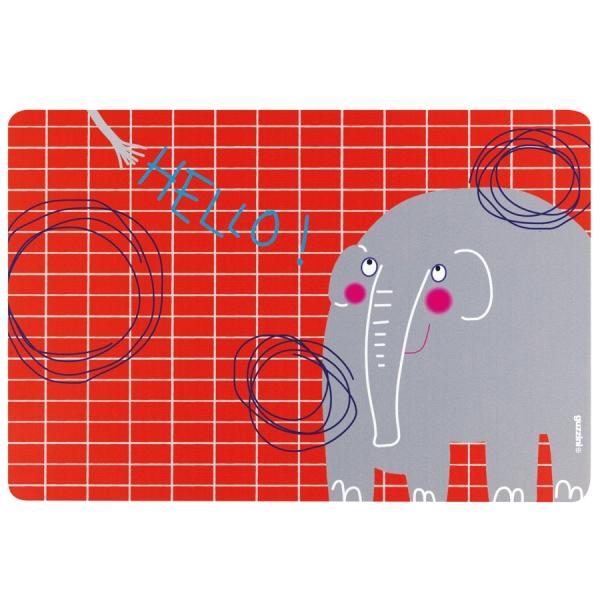 Коврик сервировочный детский hello слон