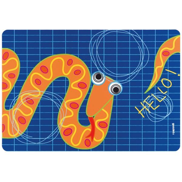 Коврик сервировочный детский hello змея
