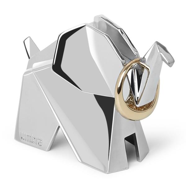 Держатель для колец origami слон хром