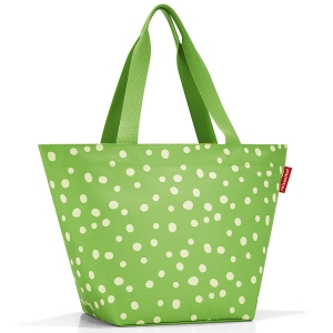 Сумка shopper m spots green