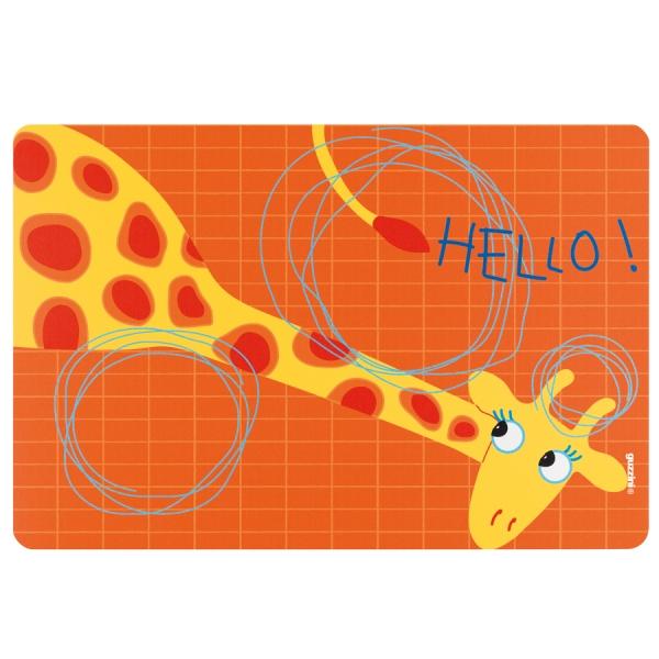 Коврик сервировочный детский hello жираф