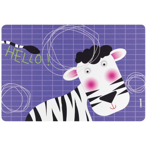 Коврик сервировочный детский hello зебра