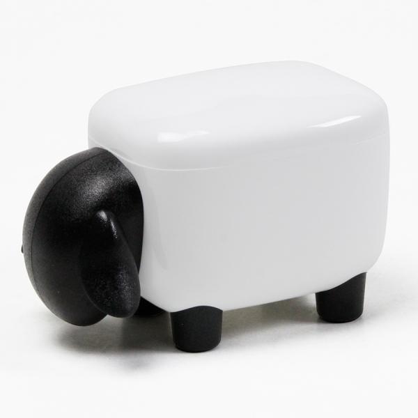 Контейнер для мелочей sheepshape, белый с черной крышкой