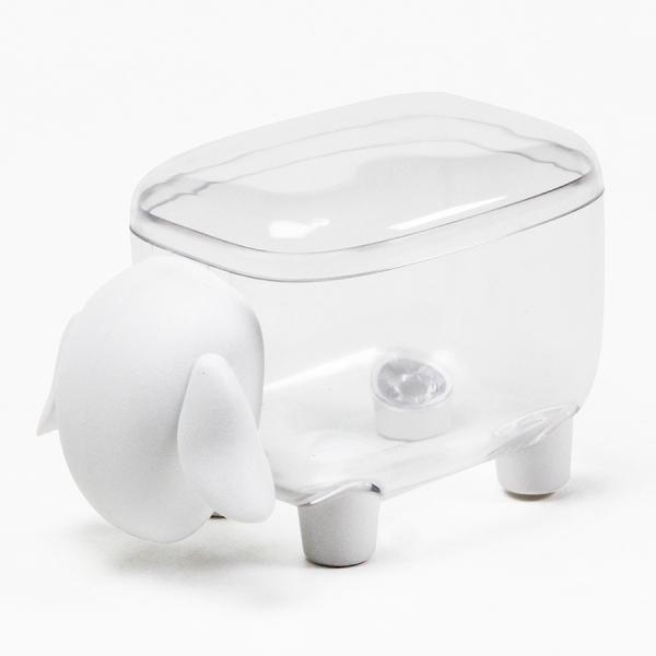 Контейнер для мелочей sheepshape, белый с прозрачной крышкой